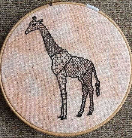 Blackwork Giraffe